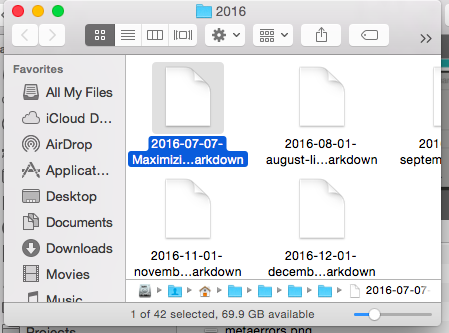 Showing right click Reveal in Finder option