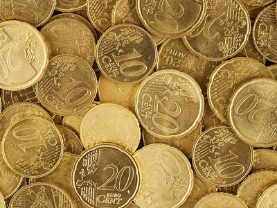Image of some Euros in a pile